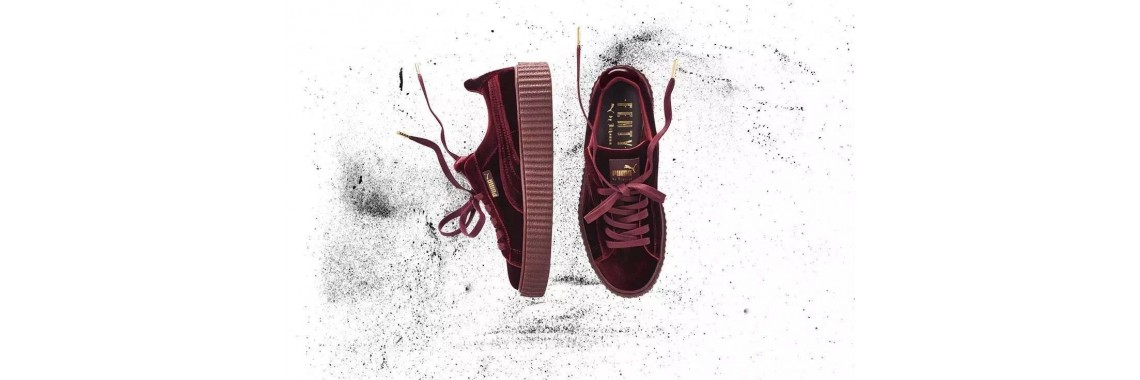 puma creeper suede burgundy
