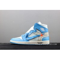 SUPER GOOD QUALITY Off White Air Jordan X 1 Collaboration North Carolina AQ0818-148 Outlet