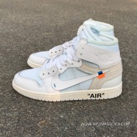 OFF-WHITE X Air Jordan 1 OW Collaboration All White AQ0818-100 Copuon