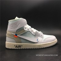 God Version Jordan 1 OFF-WHITE Air X 1 WHITE Version God SKU Size7 AQ0818-100-13 Best