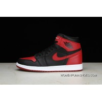 Pure OG Air Jordan 1 Retro High Bred AJ 1 Forbidden To Wear Black Red Colorways Women Shoes And Men Shoes 555088-001 Outlet