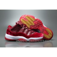 Air Jordan 11 Velvet Heiress Low Burgundy Men Cheap To Buy FfQfdE