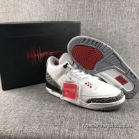 Air Jordan 3 White Cement White Hook All The Action Leather Top Deals