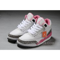 Authentic Air Jordan 3 White Pink Girls Size Online