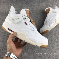 Air Jordan 4 Levis White The Cowboy For Sale