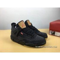Air Jordan 4 Black Levis Denim Collaboration Change Version Levis X 4 Whiteao2571-100Levis X 4 Bla Discount