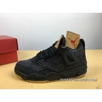 Air Jordan 4 Black Levis Collaboration Change Version Levis X 4 Whiteao2571-100Levis X 4 Bla Latest