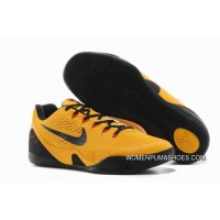 Kobe 9 Em Bruce Lee University Gold/Blk-Lsr Crmsn 646701-700 New Year Deals