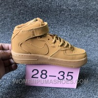 NIKE AIR FORCE 715889-200 Kids Preschool AF1 Wheat Children Best XEC2xT
