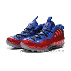 Nike Air Foamposite One Red Blue For Sale Discount 75WPCN