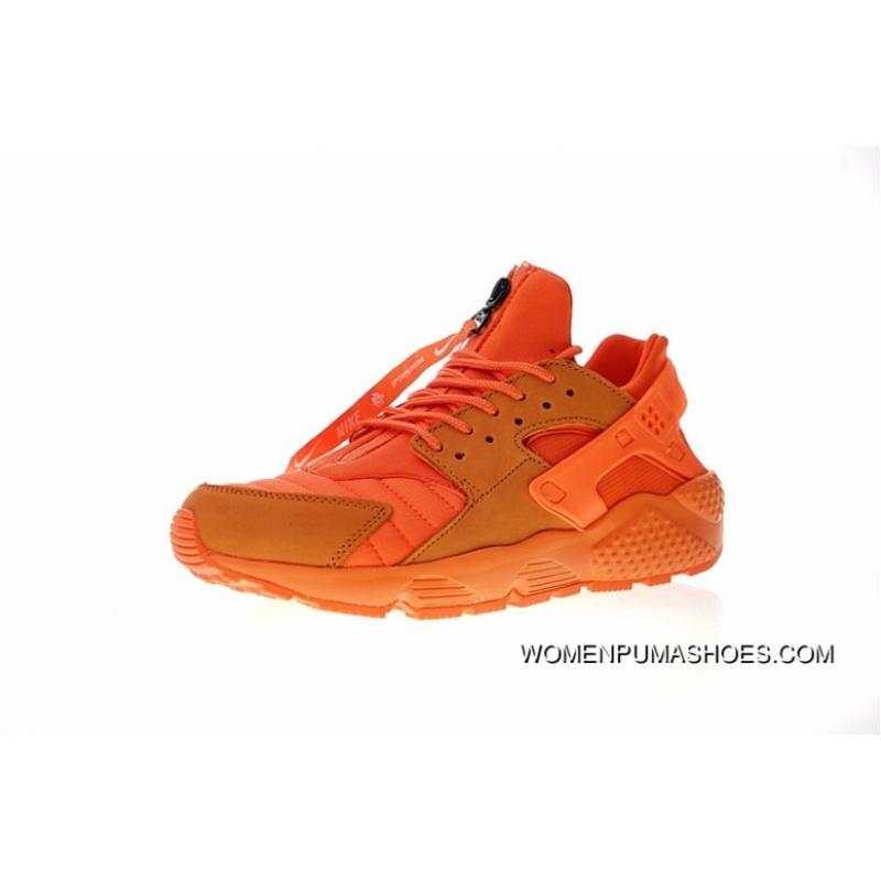 FULL GRAIN LEATHER USES System Normal Size Women Shoes And Men Shoes CHI Chicago Limited Nike AIR Huarache RUN QS NYC Original Retro Allmatch Jogging ShoesCHI Chicago Orange AJ5578800 Copuon