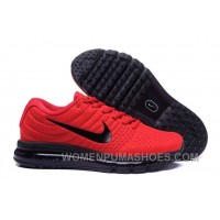 Authentic Nike Air Max 2017 Red Black Black Best IYikkB