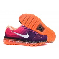 Authentic Nike Air Max 2017 Purple Pink Orange Copuon Code D44mn6