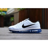 Authentic Nike Air Max 2017 White Black Royal Blue Online AaFrJYG