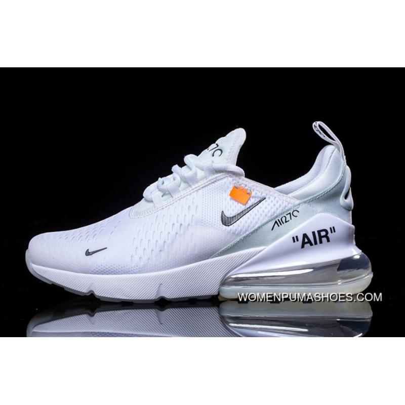 OFF WHITE X Nike Air Max 270 Collaboration Series Heel Half palm Cushion Jogging ShoesAH8050 100 Outlet