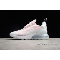 P18 Nike Air Max 270 New Heel Half-palm Cushion Jogging Shoes Pink White Women Shoes AH6789-602 Top Deals