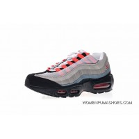 Women Shoes And Men Shoes Nike Air Max 95 Essential OG Series Retro Zoom Jogging Shoes Black Grey Gradient Red 609048-106 Free Shipping