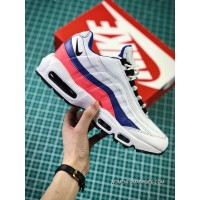Nike Air Max 95 TT Retro Zoom All-match Jogging Shoes Series OG White Blue Pink 749766-106 Men Shoes Discount