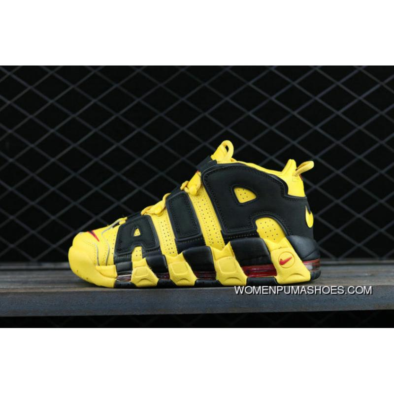 Nike Air More Uptempo Custom Bruce Lee Black Yellow Noir Amarillo  Basketball Shoes Best ...