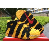 2018 Bruce Lee Nike Air More Uptempo Black/Yellow Online