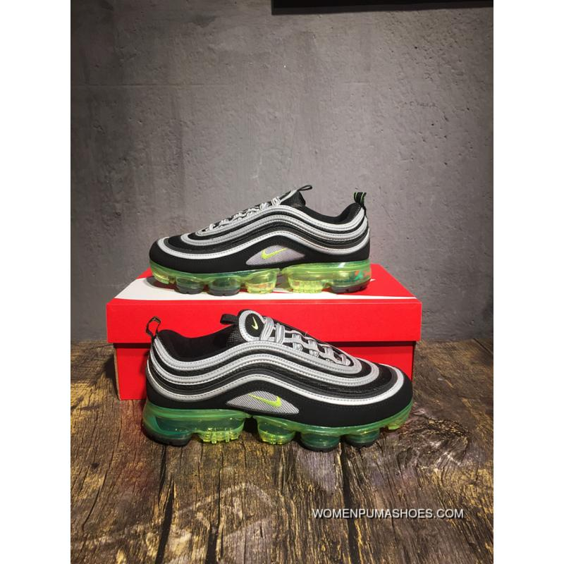 Nike Air Vapormax 97 Japan Bullet Zoom Air Running Shoes Black GreenAJ7291001 Free Shipping
