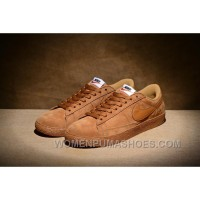 NIKE BLAZER LOW PRM VNTG 443903 Pig Leather Men Brown For Sale