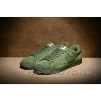 NIKE BLAZER LOW PRM VNTG 443903 Pig Leather Men Green Super Deals