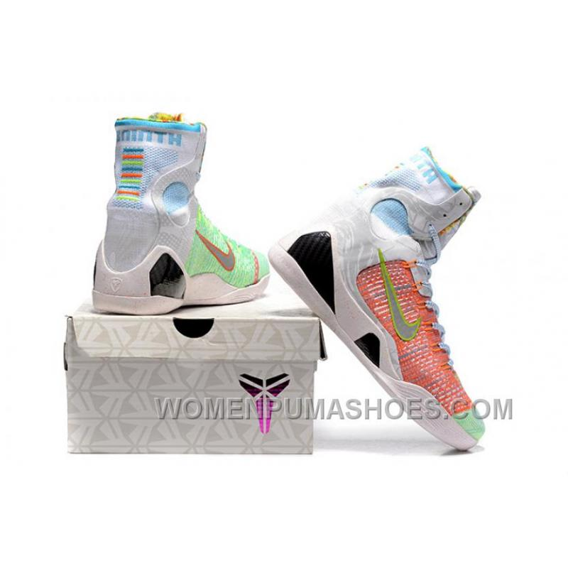 buy popular 36389 89a1d Nike Kobe 9 High Woven Rainbow White Men Shoes For Sale Fw88ns