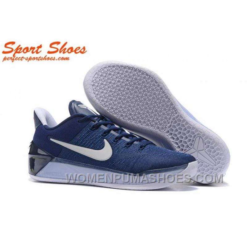 official photos cdc52 2f8c9 Nike Kobe A.D. Sneakers For Men Low Navy Blue White New Style K7p8pDt