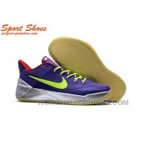 Nike Kobe A.D. Sneakers For Men Low Silver Purple Green Discount P3BAaF7