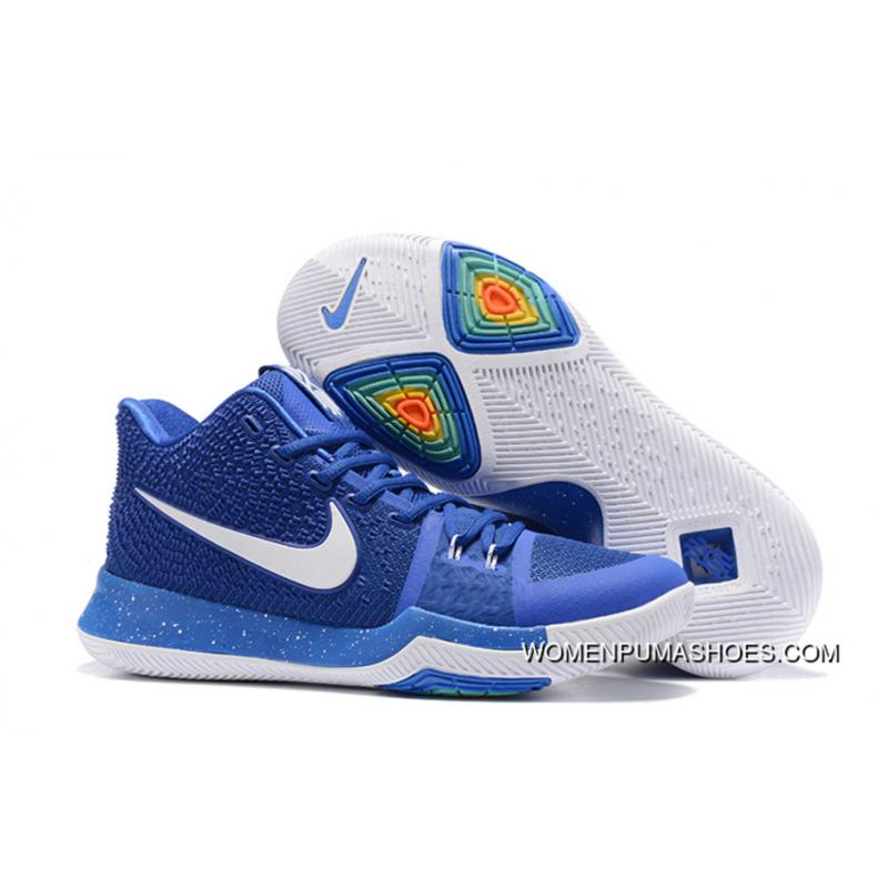 detailed look 49037 85fa1 Nike Kyrie 3 Royal Blue White For Sale Best
