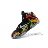 "Nike LeBron 11 ""Everglades"" Black/Metallic Silver-Wolf Grey-Atomic Mint For Sale Free Shipping KkGZ4T"