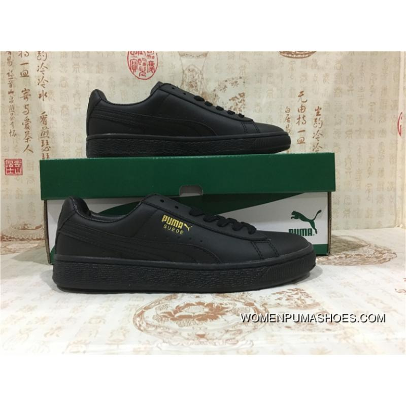 100% authentic 7b8bb 67226 Puma Classic All Black Gold Tongue Outlet
