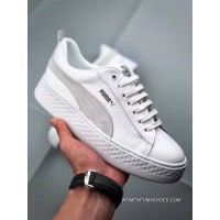 Puma Rihanna 2018 Simplified Height-Increase Shoes Smash Platform SD Women Flatform Casual Sneaker SKU 366487-03 Size9 Rihanna 2018 Simplified Latest