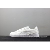Puma Basket Classic Frill Women Macrame Casual Shoes 364067-03 New Year Deals
