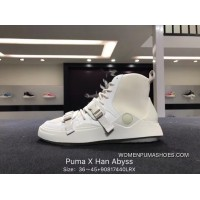 Puma X Han Abyss 2018 Latest Collaboration Leg Warmers High Sneakers Multiple Assembled Shoes Bottom Upper Relaxed Breathable 365884-01 Cingulate Bind By Combining Dancer Super Fashion Avant-garde Contracted All-match Ball Shoes Design Online