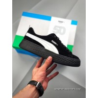Guangdong High Quality Puma 5 Rihanna 2018 Simplified Height-happens Shoes Pink Broken Platform SDWomen Flatform Casual Sneaker Black White SKU 366487-03 Discount