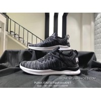 Puma IGNITE Flash EvoKNIT Women And Men Of Lightweight Cushioning Low With Sport Shoes Size 36 44 90814330 190961-02 Xw Free Shipping
