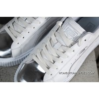 Authentic Puma Basket Platform Rihanna 2.0 Simplified Silver Head White 366169-01 Outlet