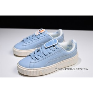 Online Hyx62508 Tiny Cottons X Puma Basket Platform Flatform Shoes 2.0 All match Sneakers Shallow Blue Small Octopus 367472 01