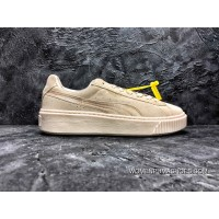 Latest Puma Basket Platform Rihanna 2.0 Simplified Silk Beige White SKU 365828-02
