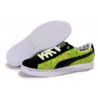 Mens Puma Basket Brights YoYo Black Yellow Green Top Deals NY4P3