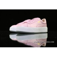 Puma White-Gold Basket Platform Core 364040-03 Pink Top Deals