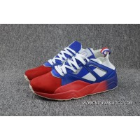 Free Shipping Puma Sneakerness X Blaze Of Glory Sock Paris Patriot Red Blue