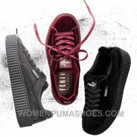 Puma By Rihanna Suede Creepers Black Grey Burgundy 2017 New Free Shipping YaPtr