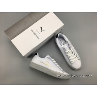 PUMA Clyde Stitched HAN White Silver Cheap To Buy