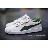 Puma Court Star Vulc 366841-06 White Green Free Shipping