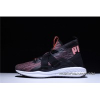 2 Function Puma IGNITE EvoKNIT HI Ignition Point Series High Jogging Shoes Light Pink Black WHite 190455-01 Best