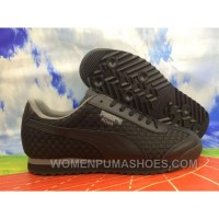 2017 PUMA Roma Basic 359853-01 ALL BLACK MEN SHOES For Sale