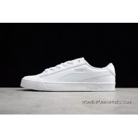 Puma SMASH V2 VULC CV Canvas Shoes All White 365968-03 Women Shoes And Men Shoes For Sale